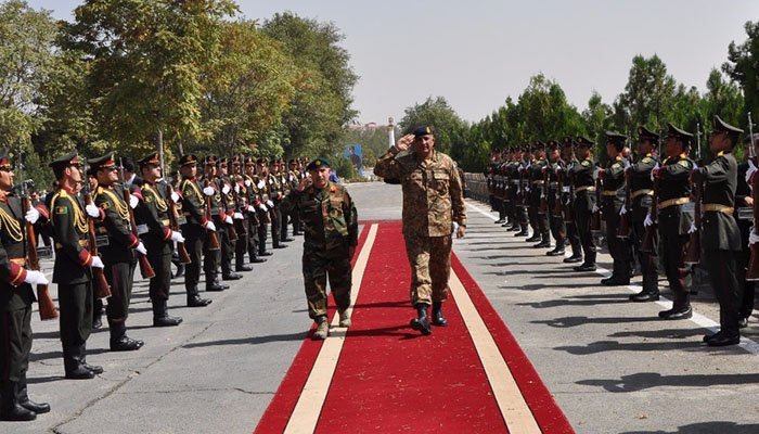 Gen Bajwa is visiting the neighbouring country for a day-long visit on the invitation of President Ghani.