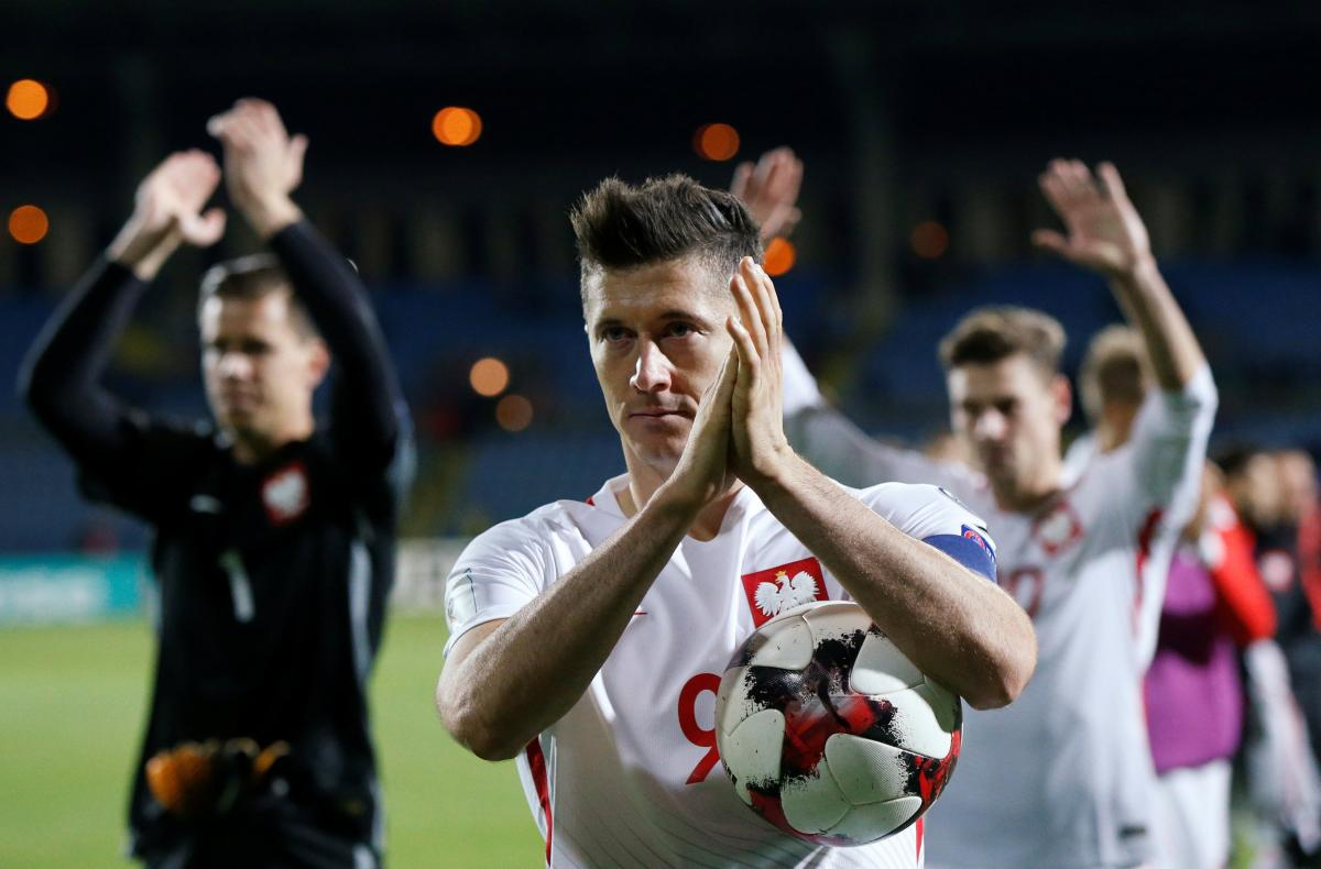 d1f24e207 Robert Lewandowski scored a hat-trick to lead Poland to a 6-1 win in  Armenia on Thursday which put them on the brink of clinching a World Cup  place and made ...