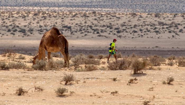 Un corredor, durante la prueba.