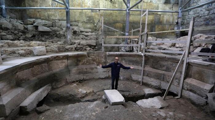 Israel uncovers buried section of Western Wall