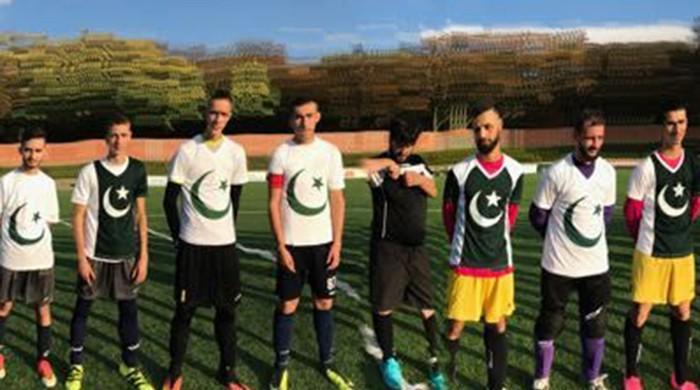 Pakistan Whites wins friendly football match in Brussels