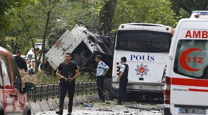 12 wounded in bomb attack on police van in Turkey