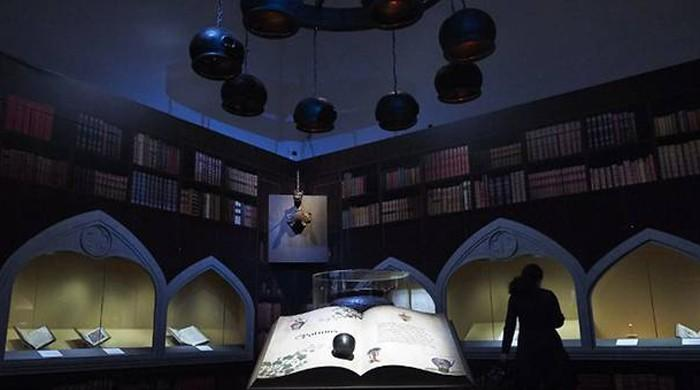 Harry Potter showcased with bones and cauldrons in London