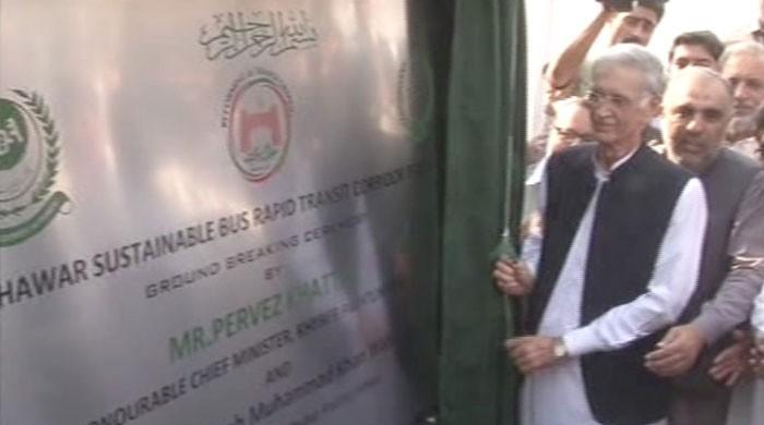 CM Khattak inaugurates Bus Rapid Transit project in Peshawar