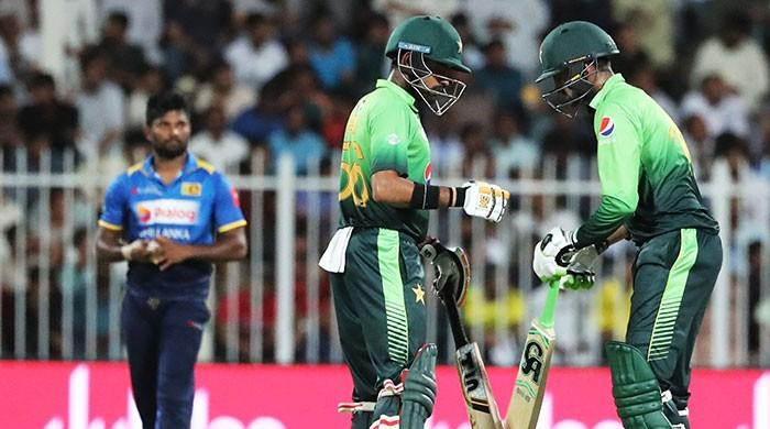 Pakistan stabilises after shaky start, chasing 174