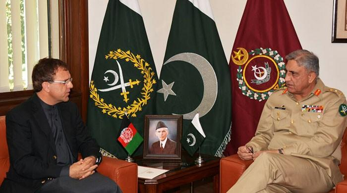 Terrorism can not shake resolve for peace in the region, COAS tells Afghan envoy