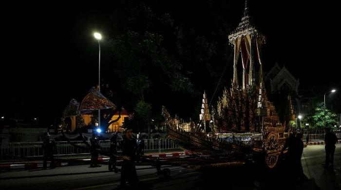 Thailand rehearses lavish $90 million funeral for late king