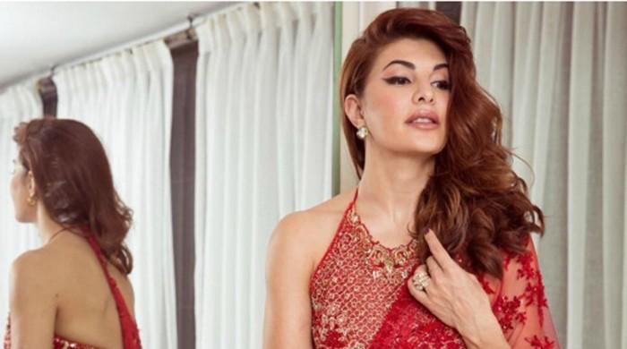 Jacqueline Fernandez dons Pakistani designer's sari for Diwali and she's rocking it