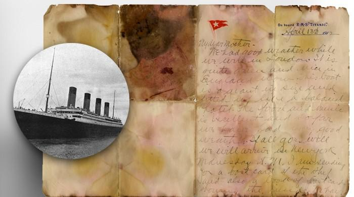 Last post: Titanic victim's letter sells for record 126,000 pounds