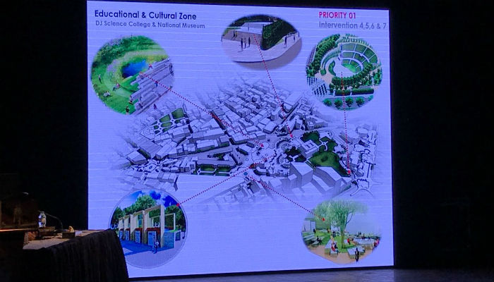 A view of the educational and cultural zones identified under the rehabilitation plan. Photo: CG Consultants