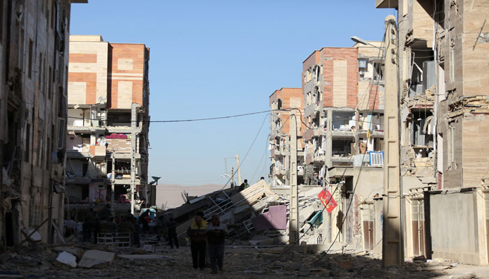 Damaged belongings in Iran. Photo: Reuters