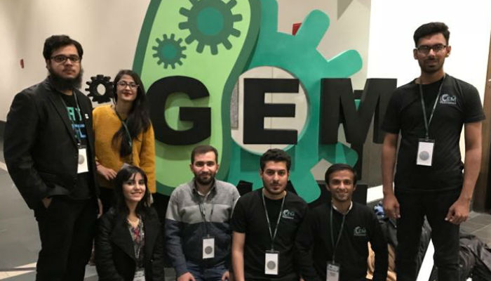 Students from Pakistan were awarded with a silver medal for their project at the iGEM 2017 on October 13, 2017. Photo: Press release