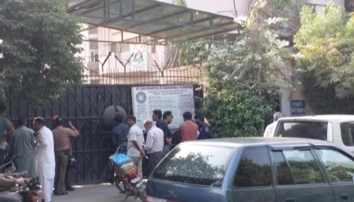 Students lock up Sir Syed University gates after dispute