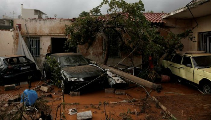 Flash floods in Greece kill 14