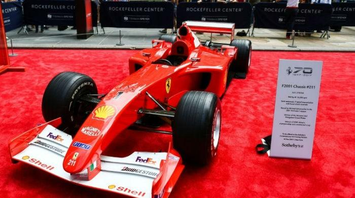 $7.5 million Schumacher Ferrari sets record: Sotheby's