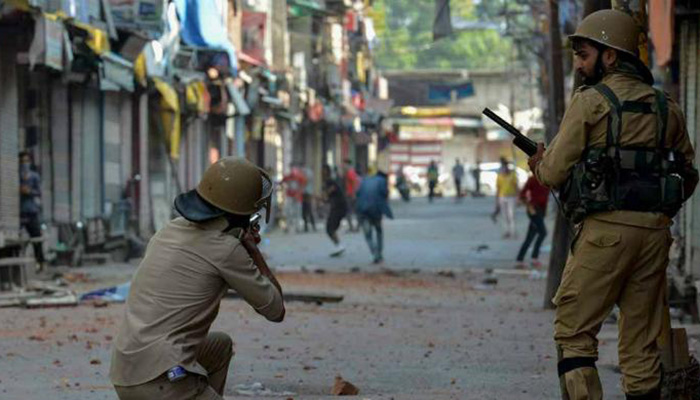 Image result for Indian troops Martyr one Kashmiri youth in Hajin