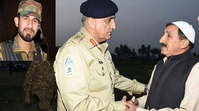 COAS visits family of army captain martyred in Bajaur attack