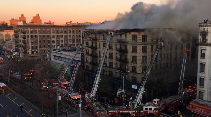 BREAKING: Five wounded as raging fire engulfs Manhattan building