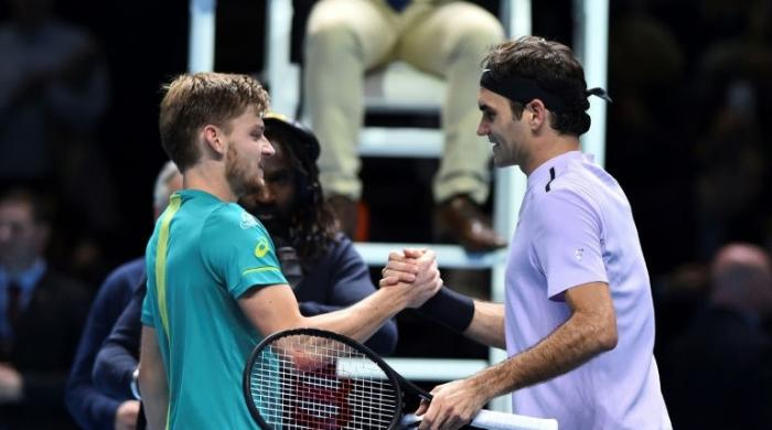 Goffin shocks Federer to reach final at ATP Finals