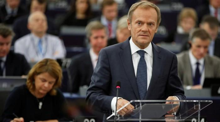 EU's Tusk says alarmed that Poland's policy resembles 'Kremlin's plan'
