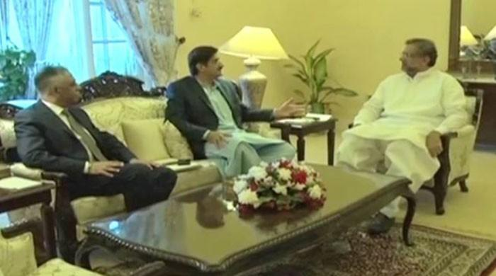 PM Abbasi discusses political situation, development projects with Sindh CM, governor