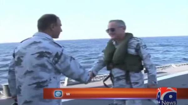 Chief of naval staff visits fleet units at sea