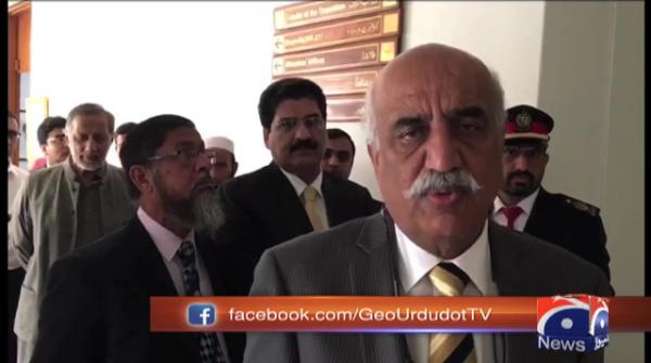 Khursheed Shah comments on Islamabad sit-in