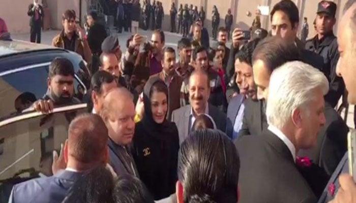 Graft cases: Nawaz Sharif, kin appear in court