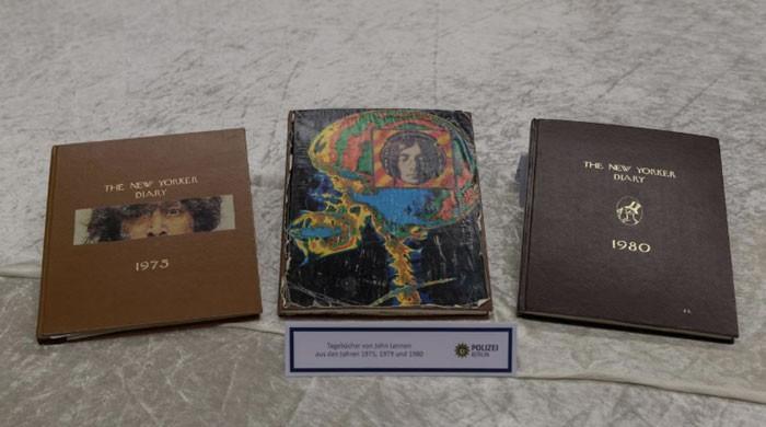 German police present stolen John Lennon diaries