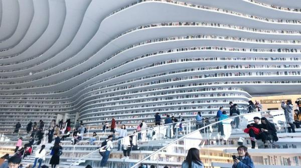 China's new Tianjin Binhai library is breathtaking