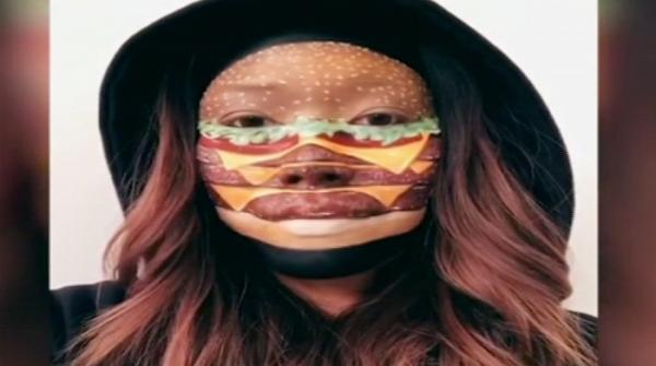 Canadian make-up artist transforms her face into fast food