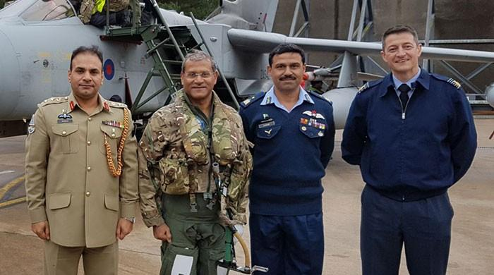 PAF chief flies training mission with Royal Air Force's No. 9 Squadron