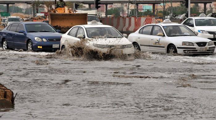 Flash floods triggered by heavy rains sweep through Jeddah