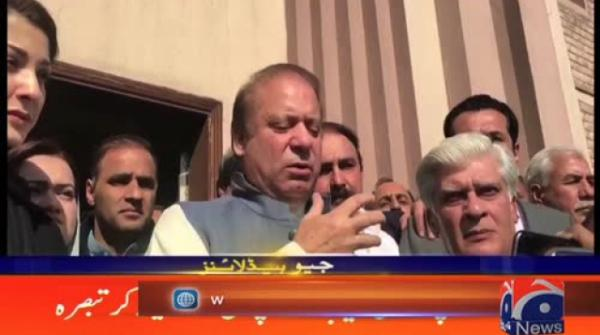 Nawaz shares light-hearted moments with journalists
