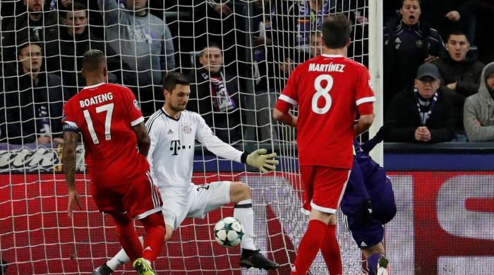 Bayern stretch winning run with 2-1 win at Anderlecht