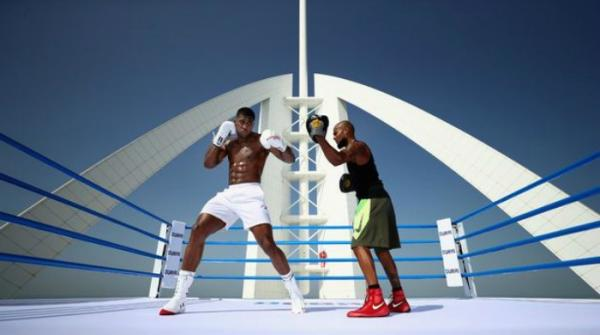 Anthony Joshua shares 'world's highest workout' in Dubai