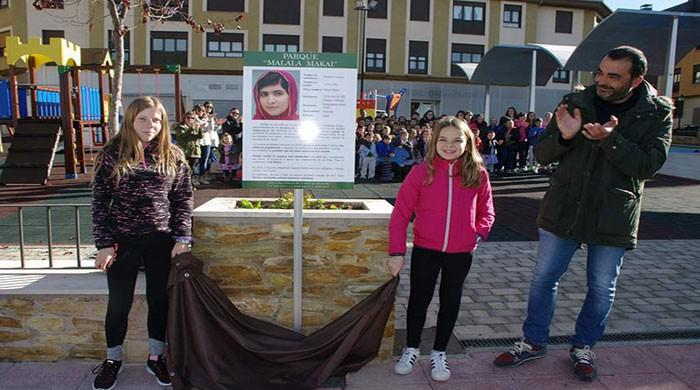 Schoolchildren in Spain choose to name park after Malala Yousafzai