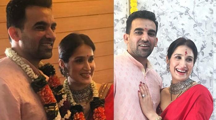 Indian cricketer Zaheer Khan ties the knot with Bollywood actress Sagarika