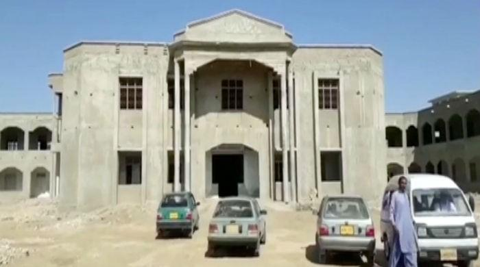 College students in Mirpur Khas forced to study in under construction building