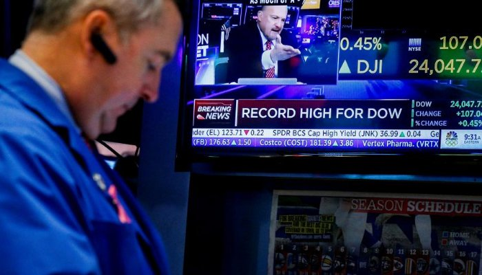 Dow Jones closes above 24000 points for first time