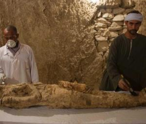 Egypt reveals artefacts, mummy from tombs in ancient city of Luxor