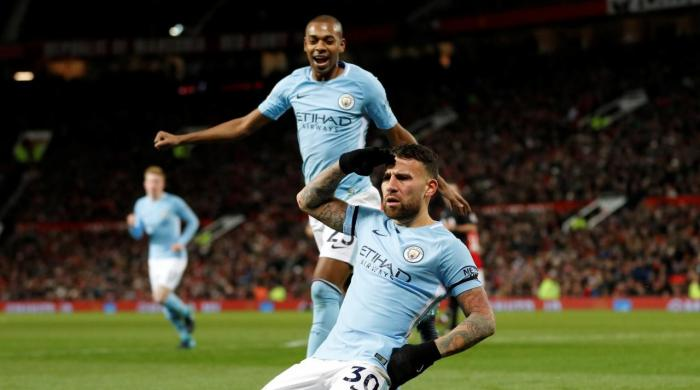 Leaders Manchester City go 11 points clear on derby day