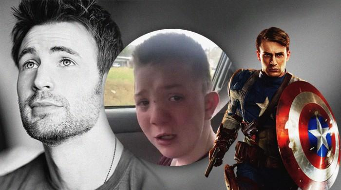 Chris Evans invites bullied boy to Avengers' LA premiere next year