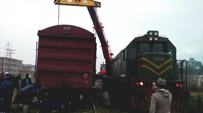 Freight train bogies derail at Shadra station, delay Shalimar Express