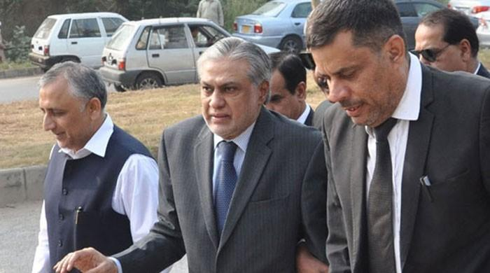 Court reserves decision on declaring Ishaq Dar proclaimed offender