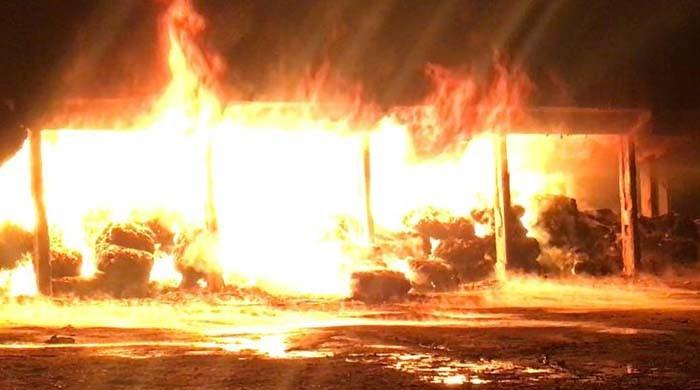 Karachi warehouse fire: Efforts to douse blaze underway