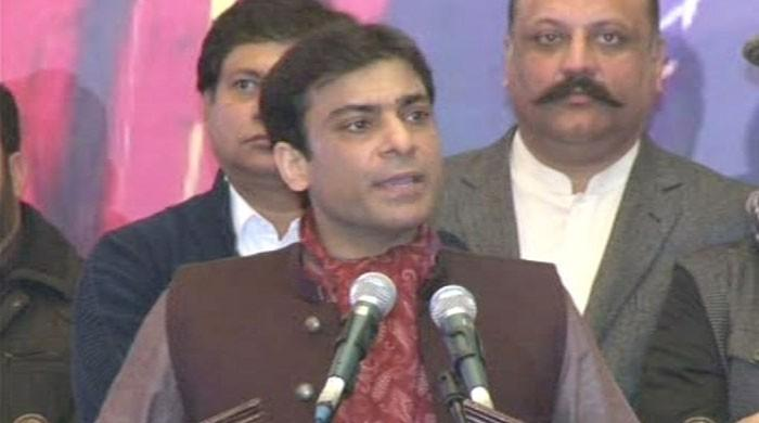 Hamza Shehbaz distributes laptops among students in Lahore
