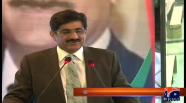 CM Sindh Muraad Ali Shah speaks to media