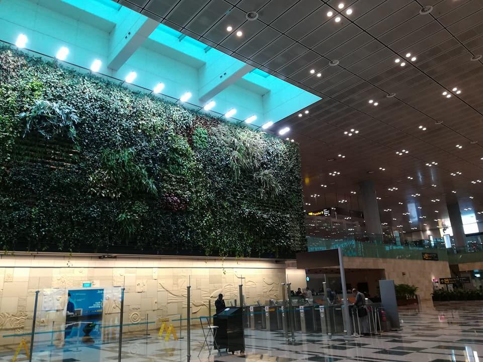 The Singapore airport - Picture credit: Nida M Hussain/Maria Shamim