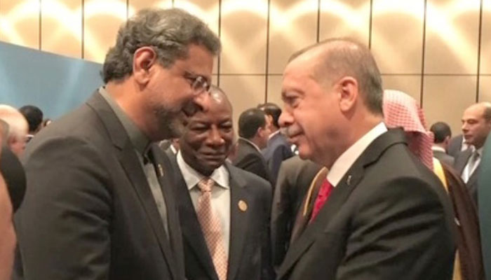 OIC summit: PM Abbasi urges USA to withdraw decision on Jerusalem